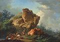 Loutherbourg-Des voleurs attaquant des voyageurs dans une gorge de montagnes.jpg