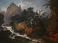 Loutherbourg-Paysage avec une cascade et un homme attaqué par un serpent.jpg