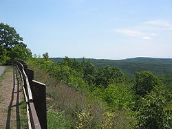 High Knob vista of Loyalsock State Forest, Hillsgrove Township