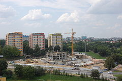 "Lublin, Poland. ""Perły Kaliny"" apartment blocks under construction 01.jpg"
