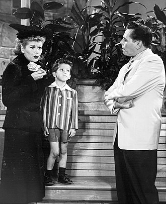 Richard Keith (actor) - With Lucille Ball and Desi Arnaz on I Love Lucy (1956)