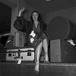 Ludmilla Tchérina - Ludmilla Tcherina 1955 at Frankfurt airport