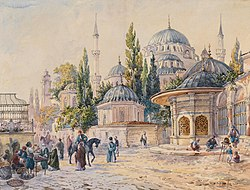 Ludwig Hans Fischer - The Sehzade Mosque in Laleli, Istanbul.jpg
