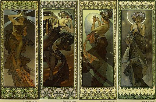 Lune et etoiles 1902