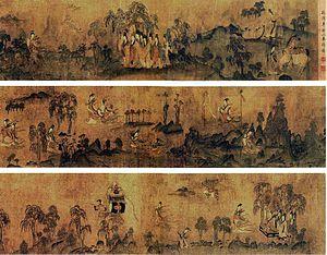 Chinese painting - Luoshenfu by Gu Kaizhi (344–406 AD)