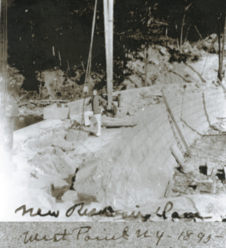 Lusk Reservoir - Image: Lusk Reservoir Construction 1895