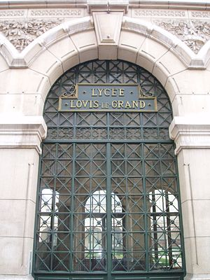 Lycée Louis-le-Grand - Front entrance of the Lycée Louis-le-Grand, in Paris, one of the most famous lycées providing preparatory classes for ''grandes écoles''