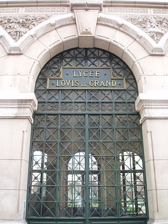 Lycée Louis-le-Grand - Front entrance of the Lycée Louis-le-Grand, in Paris, one of the most famous lycées providing preparatory classes for grandes écoles