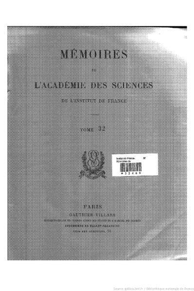File:Mémoires de l'Académie des sciences, Tome 32.djvu