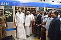 M. Venkaiah Naidu alighting from the Metro Train after inaugurating the Metro Rail passenger service between Airport to Little Mount, in Chennai.jpg