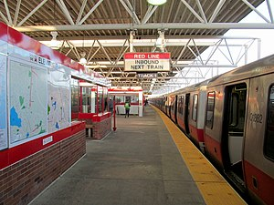 Braintree (MBTA station) - Red Line train at Braintree station in December 2015