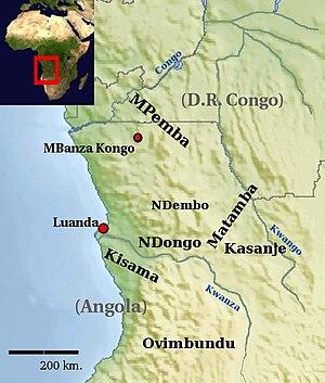 Ambundu - Image: M Bundu Regions