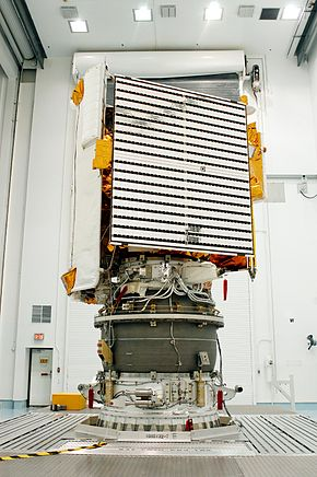 alt=Description de l'image MESSENGER on the Delta II 7925 H third stage.jpg.