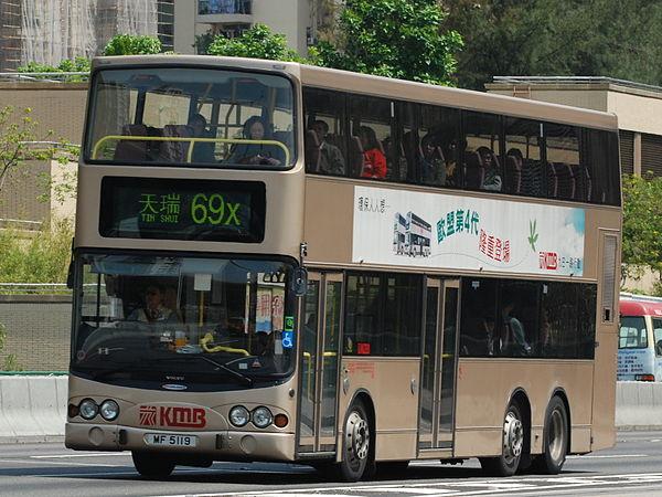 Bus routes in Hong Kong