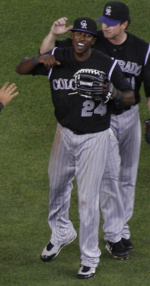 Dexter Fowler - Fowler with the Colorado Rockies