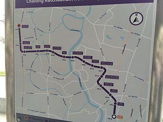 Tao Poon MRT Station - Image: MRT Purple Line Route Map