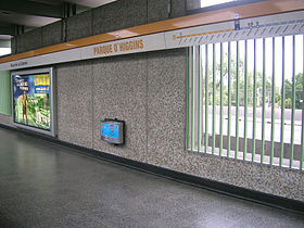 Image illustrative de l'article Parque O'Higgins (métro de Santiago)