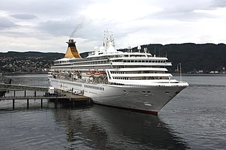 MV Artania - MS Artemis in Trondheim in August 2009.
