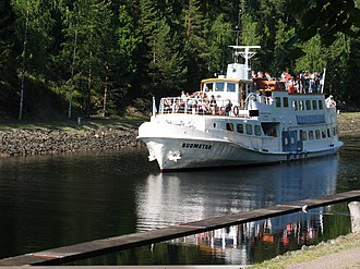 Lake Päijänne - MS Suometar in the Kalkkinen canal between Päijänne and Kalkkinen.