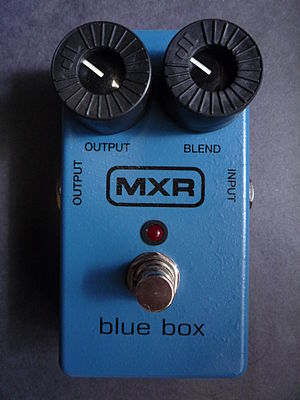 Octave effect - MXR Bluebox (reissue model), an octafuzz producing octave down tones.