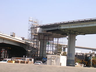 MacArthur Maze - The connector during reconstruction work.