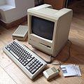 Macintosh Plus, disquettes, clavier et souris.JPG