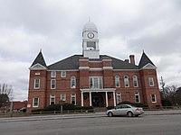 Macon County Courthouse Georgia (SouthWest face).JPG