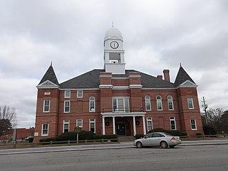 Macon County Courthouse (Georgia) - Image: Macon County Courthouse Georgia (South West face)