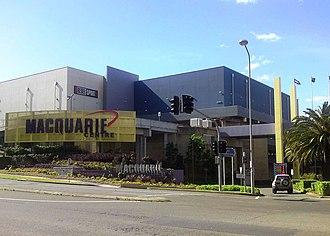 Macquarie Centre - Macquarie Centre main carpark entrance on Waterloo Road