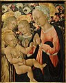 Madonna and Child with Angels, by Giovanni di Paolo, Siena, c. 1475, tempera on panel - San Diego Museum of Art - DSC06657.JPG