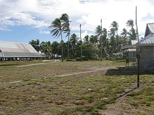 Maiana - The Island Council compound in Maiana, Kiribati