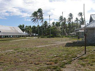 Maiana - The Island Council compound in Maiana, Kiribati