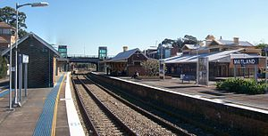 Maitland railway station - Westbound from platform 4 in July 2014