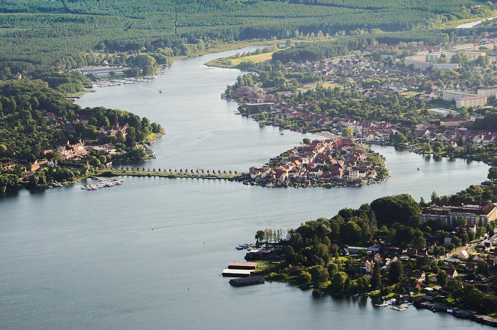 Malchow (Mecklenburg), Luftaufnahme