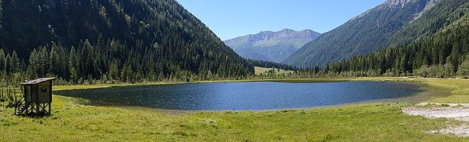 Lake Stappitz in the Seebach Valley near Mallnitz, High Tauern National Park, Carinthia, Austria