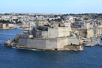 48th (Northamptonshire) Regiment of Foot - Fort St. Angelo in Malta where Ensign Thomas Bell planted the regimental colours following the recapture of the island from the French in September 1800