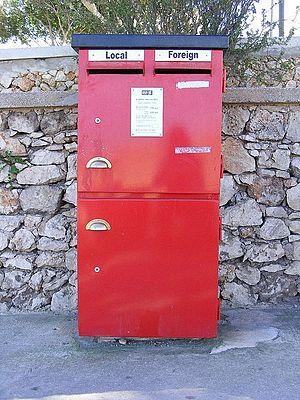 MaltaPost - Modern post box in Mellieħa.