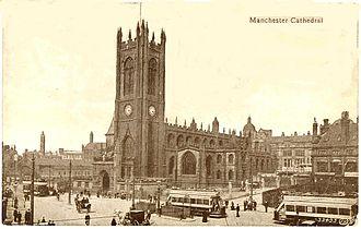 Manchester Cathedral - Manchester Cathedral in 1903