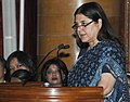 Maneka Sanjay Gandhi addressing at the presentation of the Nari Shakti Puruskars for the year 2016, on the occasion of the International Women's Day, at Rashtrapati Bhavan, in New Delhi.jpg