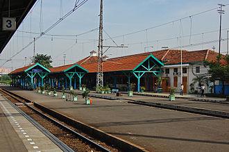 Tebet, South Jakarta - Manggarai Station, located in Tebet Subdistrict, serves the Jakarta-Bogor Railway.