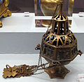 Manifattura toscana, turibolo in ottone traforato, 1390 ca..JPG