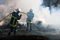 Manifestation agriculteurs Toulouse (07 novembre 2014) - Sapeurs Pompiers Avenues Jean Jaurès.jpg
