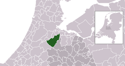 Highlighted position of De Ronde Venen in a municipal map of Utrecht