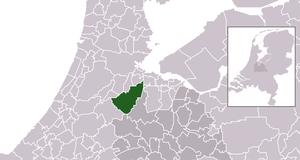 De Ronde Venen - Image: Map NL Municipality code 0736 (2014)