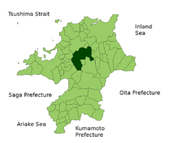 Vị trí của Iizuka ở Fukuoka