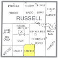 Map highlighting Fairfield Township, Russell County, Kansas.png