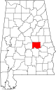 Map of Alabama highlighting Elmore County.svg