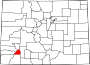 Map of Colorado highlighting San Juan County.svg