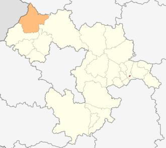 Godech Municipality - Image: Map of Godech municipality (Sofia Province)