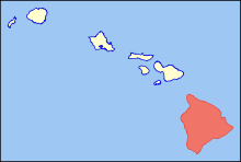 Map of Hawaii highlighting Hawaii (island).svg